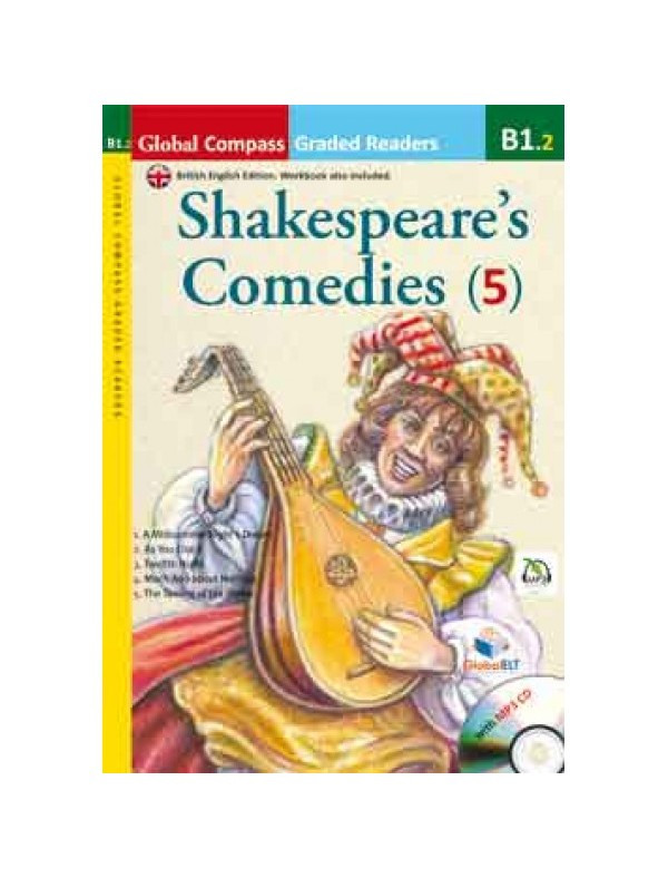 Graded Reader - Shakespeare Comedies with MP3 CD - Level B1.2 - (British English)