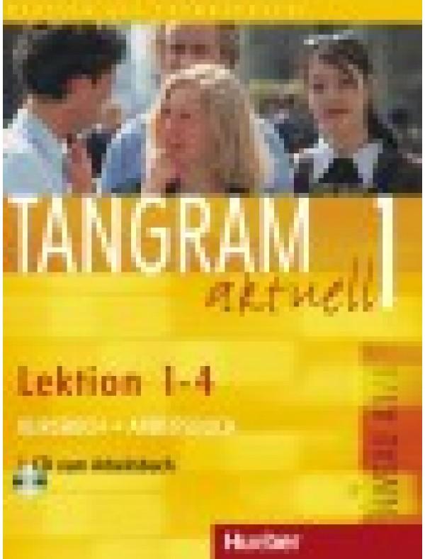 Tangram aktuell 1, Kursbuch + Arbeitsbuch, Lektion 1-4 + CD zum Arbeitsbuch