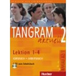 Tangram aktuell 2, Kursbuch + Arbeitsbuch, Lektion 1-4 + CD zum Arbeitsbuch
