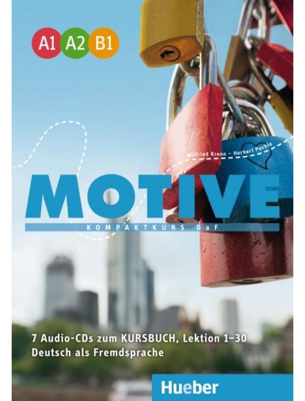 Motive  A1–B1 Kompaktkurs DaF / Audio-CDs zum Kursbuch, Lektion 1–30