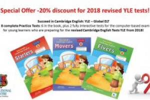 STARTERS, MOVERS, FLYERS 20% discount for 2018 revised YLE tests!